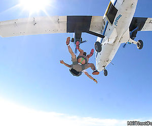 These milfs are out of their minds skydiving naked - part 5
