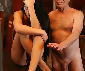 Daddy4k old man with boner penetrates attractive girl..