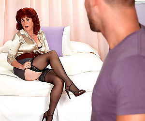 Redhead mature shirley lily sucking and fucking a guy -..