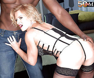 Mature blonde amanda verhooks giving big black cock oral..