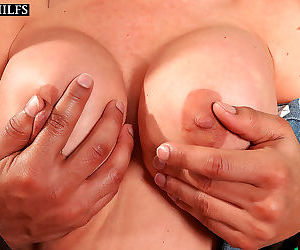 Hot older woman has her first interracial sex experience -..