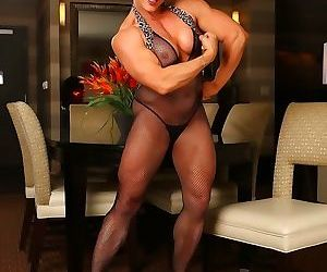 Athletic mature emery miller shows huge muscles by aziani..