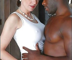 Naughty fetish lady has some interracial sex with black..