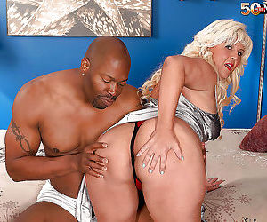 Fat older blonde lori suarez sucking big black cock - part..