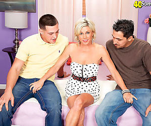 Blonde mom payton hall in mmf threesome sex action - part..