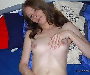 Compilation of a slutty amateur wife posing naked on the..