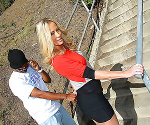 A hung black guy fucks a milf and her daughter at the same..