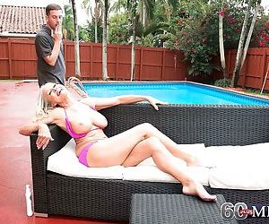 60+ granny katia getting fucked by the pool - part 2082