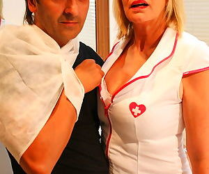 Naughty mature nurse doing her patient - part 1736