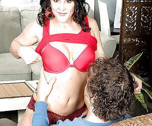 Aged brunette lexi ambrose exposing big tits to seduce..