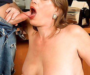 Plump mature woman randi layne sucks a man off behind..