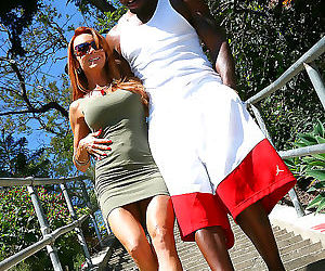 Busty redhead janet mason gets drilled by her hung black..