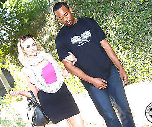 Katie kox gets her cunt filled with a black guys cum -..