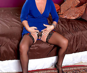 Horny busty grandma jeannie lou craving stiff cock - part..