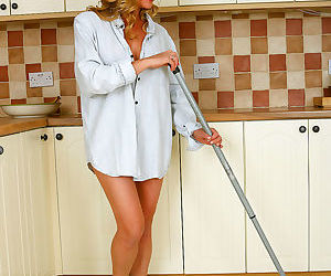 Elegant eve mopping the kitchen - part 245