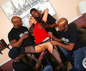 Busty kaylynn fucks a group of black men - part 243