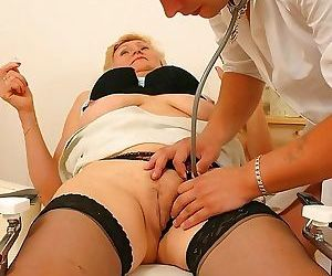 The doctor has some special interrest in this mature slut..
