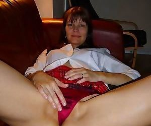 Compilation of a horny amateur milf spreading for her..