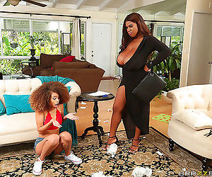 Black mama forcing young maid to pussy licking - part 2486