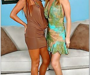 Demi delia and lisa daniels have a hot lesbian experience..