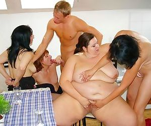 Fat woman fucked in mature sex orgy - part 2334