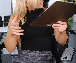 Horny nerdy mature Blaten Lee at the office decided to..