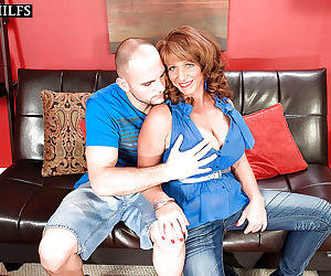 Slutty mature lady with big tits Sheri Fox sucks and fucks..
