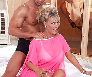Gorgeous MILF Lana Vegas gets her pierced cunt and asshole..