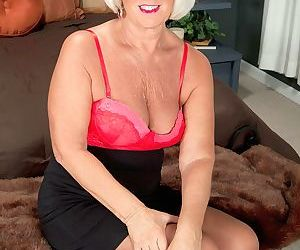 Older woman Jeannie Lou lives out her dreams of being..