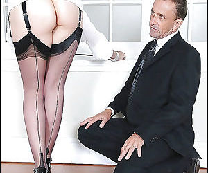 Barely clothed femdom on high heels has fun with her fully..