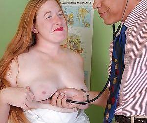 Older redheaded BBW Keno licking creampie off cunt for cum..