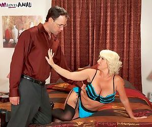 Mature pornstar Joanna Storm returns to action in a..