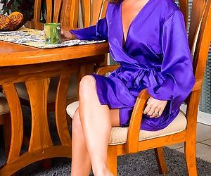 Niki May takes off her gentle silk clothing to show what..
