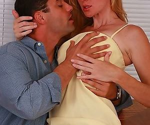 Amiable mature woman Kate Kastle is boarded by throbbing..