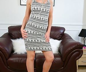 Busty mature Barbie Stroker does an incredible striptease..