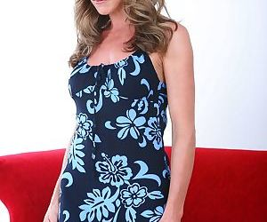 Hot older woman Shayla LaVeaux slips off her dress and..