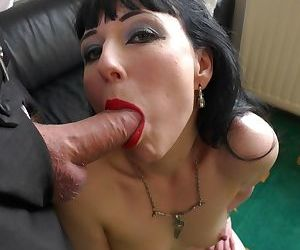 Tattooed European MILF Cleo gets properly fucked on the..