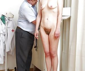 Blonde mature lady gets her love holes examed by naughty..
