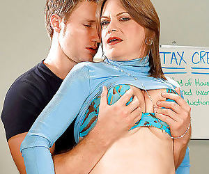 Big titted mature randi layne gets her plump tits groped..