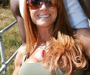 Redhead cougar Janet Mason goes 1 on 1 with the BBC of..