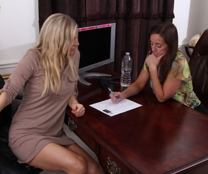 Lesbian mature Karen Jones has her pussy licked by Tabitha..