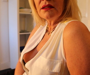 Mature blonde woman seduces her husband from a POV..