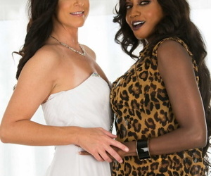 Older ladies India Summer & Diamond Jackson engage in..