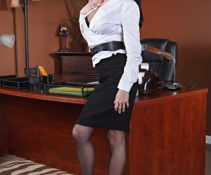 Busty office MILF Veronica Avluv seeking a strong dominant..