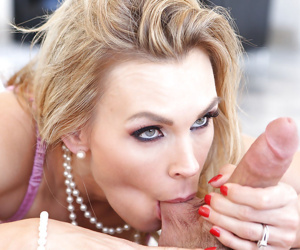 Pure mature dick-sucking babe with big tits Tanya Tate..