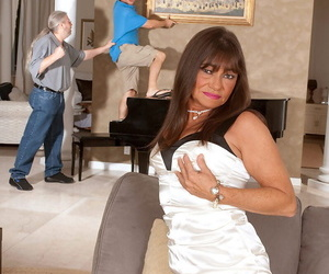 Mature housewife cheats on her husband with a younger man..