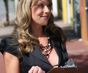 Middle-aged American female Shayla Laveaux has her first..