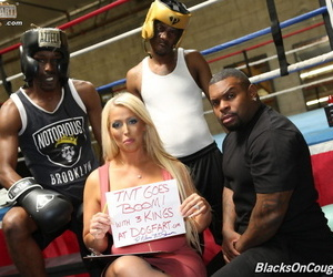 Big titted blonde gets gangbanged by black studs in a..