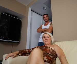 Mature wife with blonde hair cheats on her husband with a..
