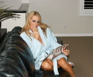 Amateur cowgirl Kelly Madison has her big tits teased in a..